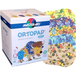 Master Aid Ortopad Boys Eye Patches - Junior Size (50 Per Box)