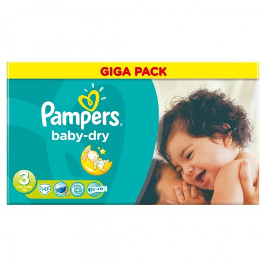 Pampers Baby Dry Size 3 Midi 4-6 kg Gigapack 141 piece
