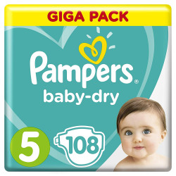 Pampers Baby-Dry Nappies Size 5 (11 - 23 kg) - Pack of 108