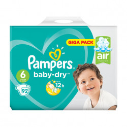Pampers Baby-Dry Nappies Size 6, 92 Pieces Giga Pack