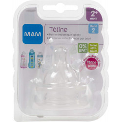 Mam Medium Flow Teat level 2 (2-pack)