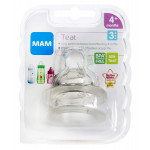MAM Fast Flow Bottle teats Teats for use with MAM Bottles (2-pack), Level 3