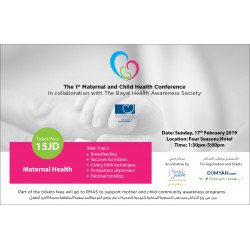 The First Maternal and Child Health Conference Ticket - Pregnant Care