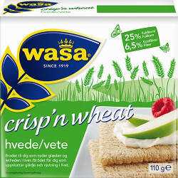 WAS Crispbread Crispn Wheat 110g
