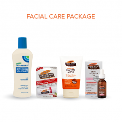 Palmer's Facial Care Package Includes Deep Cleansing Facial Astringent, Enzyme Mask, Lip Balm and Face Skin Therapy Oil