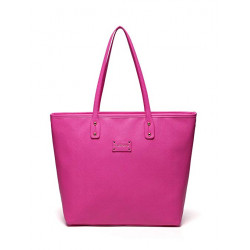 Colorland Ariana Faux Leather Tote Baby Diaper Bag Shoulder Fashion Bag (Pink)