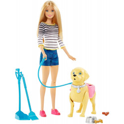 "Barbie ""Walk and Potty Pup"" Doll"