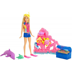 Barbie - Dolphin Magic Ocean Treasure Play Set
