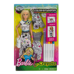 Barbie Colour-in Fashion