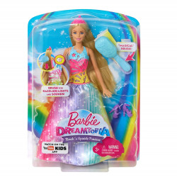 Barbie Doll Glow Fairy Rainbow Barbie Long Hair