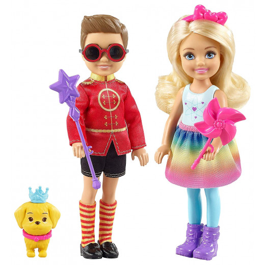 Barbie  - Dreamtopia Chelsea and Otto Playset, Multi-Colour