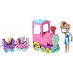 Barbie - Family Chelsea Choo Train with Doll, Colourful, Accessories Playset, Multi