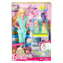 Barbie Careers doll, Barbie Baby Doctor Playset with Baby Dolls and Accessories