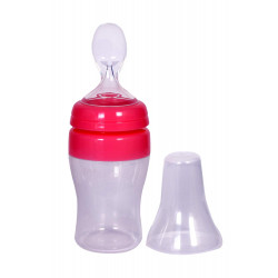Farlin 150 Wide Neck Transbottle Silicone Feeder (Pink)