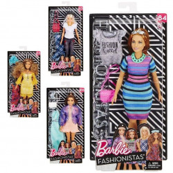 Barbie model with suits and accessories