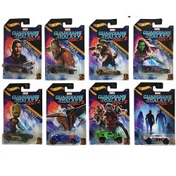Hot Wheels - 2017 Guardians of the Galaxy Vol. 2 Bundle Set of 8 Die-Cast Vehicles