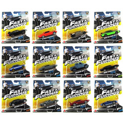 Fast & Furious Set, Assorted 12 Model Cars, Pack Of One - Assortment