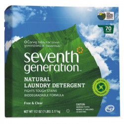 Seventh Generation Natural Powder Laundry Detergent, Free & Clear 3.17Kg