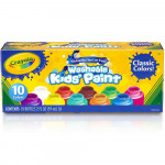 Crayola Washable Kids' Paint, Assorted Colors 10 Bottles