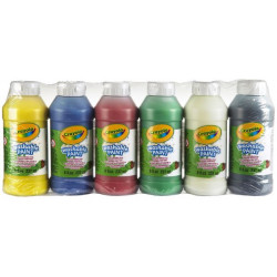 Crayola Washable Paint Bottles 250Ml - 6 Bottles