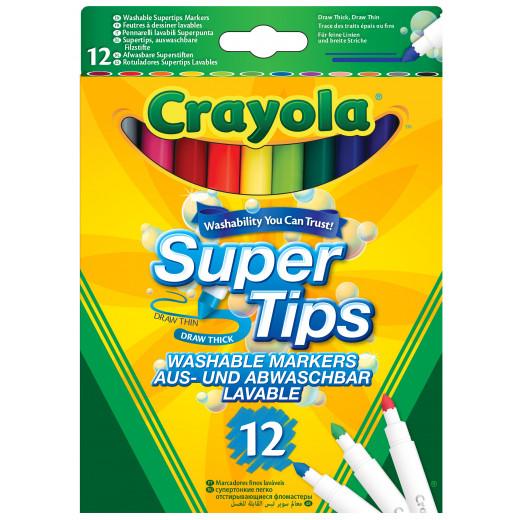 Crayola 12 Bright Colour Supertips Pens