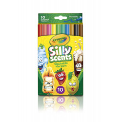 Crayola 10 Count Silly Washable Scented Markers