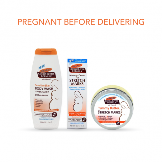 Palmer's Pregnant before Delivering Package Includes Body Wash, Tummy Butter and Cream for Stretch Marks
