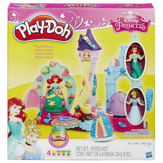 Play Doh Disney Princess Royal Palace Playset with Cinderella and Ariel