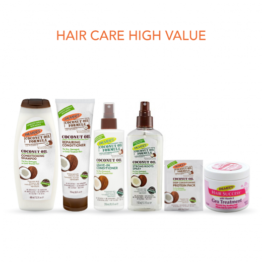 Palmer's Hair Care Package Includes Shampoo, Conditioner and Protein Pack, Leave in Conditioner, Roots Spray and Treatment Jar