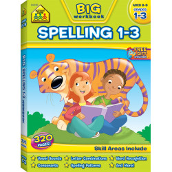 School Zone - BIG Spelling Grades 1-3 Workbook