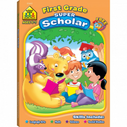 School Zone - First Grade Super Scholar Workbook Ages 5 to 7