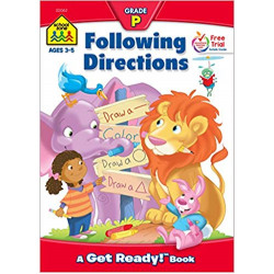 School Zone - Following Directions ages 3-5 Grade P