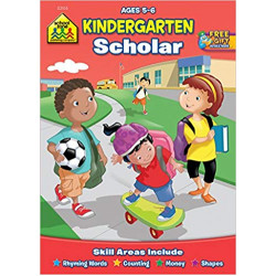 School Zone - Kindergarten Scholar Workbook, Ages 5 to 6