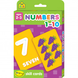 School Zone - Numbers 1-10 Skill Cards