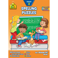 School Zone - Spelling Puzzles Workbook Grade 2