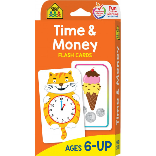 School Zone - Time and Money Flash Cards