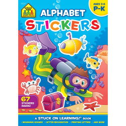 School Zone - Alphabet Stickers Workbook