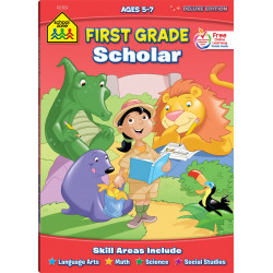 School Zone First Grade Scholar Deluxe Edition Workbook