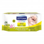 Package 3: Pure Born - Organic Nappy Size 3 X2 +  Septona Baby Wipes with Organic Olive Oil 6pcs X2