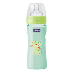 Chicco - Well-Being Bottle 250ml - Silicone (Tiger)