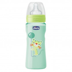 Chicco - Well-Being Bottle 330ml- Silicone (Tiger)