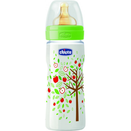 Chicco - Well-Being Bottle Fast Flow, Latex, 330ml