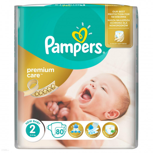 Pampers Premium Care Size 2 (3-6 Kg), 80 Nappies