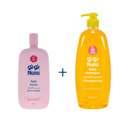 Nunu Package Shampoo 800ml + Baby oil 200ml