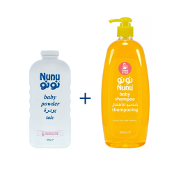 Nunu Package Shampoo 800ml + Baby Powder 400ml