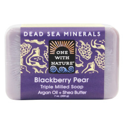 One With Nature Dead Sea Minerals Bar Soap Blackberry Pear