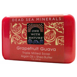 One With Nature Dead Sea Minerals Soap Grapefruit Guava