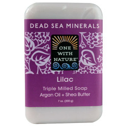 One With Nature Dead Sea Minerals Soap Lilac