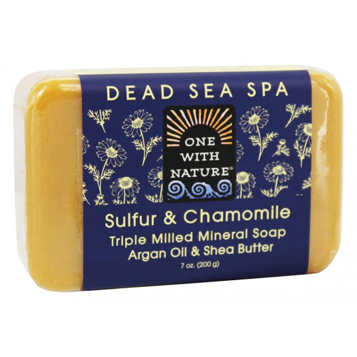 One With Nature Dead Sea Spa Mineral Soap Sulfur & Chamomile