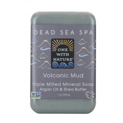 One With Nature Dead Sea Spa Mineral Soap Volcanic Mud